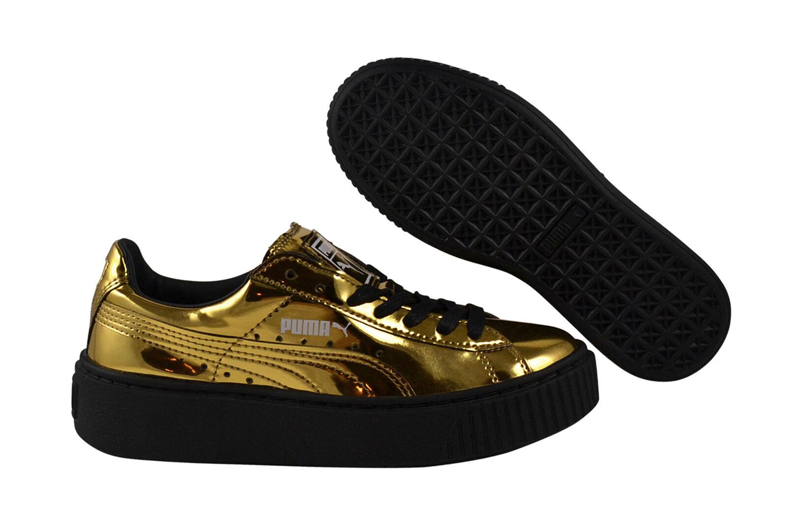 PUMA Basket piattaforma METALLIZZATO oro oro nero scarpe da da da ginnastica scarpe nere 362339 04 | Materiali Selezionati Con Cura  1c3a48