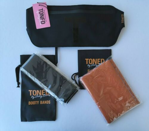 Toned by Ashy Bines 3 Sets Flex Band+Booty Bands+Fanny Pack Gym Yoga Bands