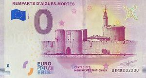 BILLET-0-EURO-REMPARTS-D-039-AIGUES-MORTES-FRANCE-2018-NUMERO-2200