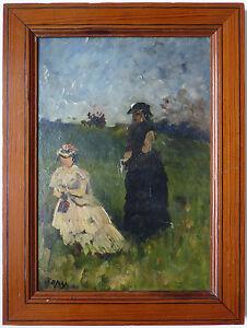 Peinture-impressionniste-de-Louis-Aime-JAPY-1839-1916-impressionnisme-painting