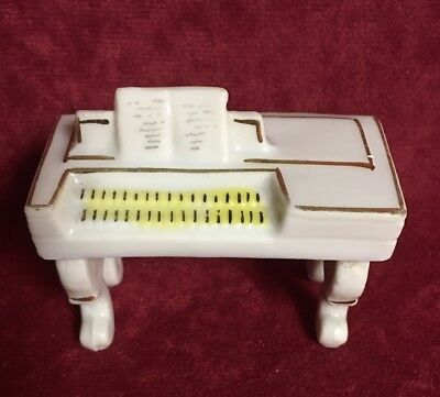 Dollhouse Miniature Wood Spinet Piano with Raised Keys and Bench CLA10564