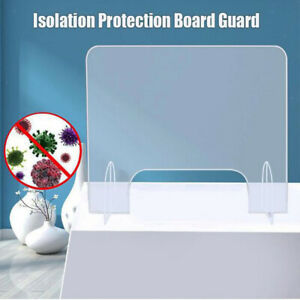 Nail Salon SNEEZE GUARD Acrylic Desk Safety Shield for Offices and Stores