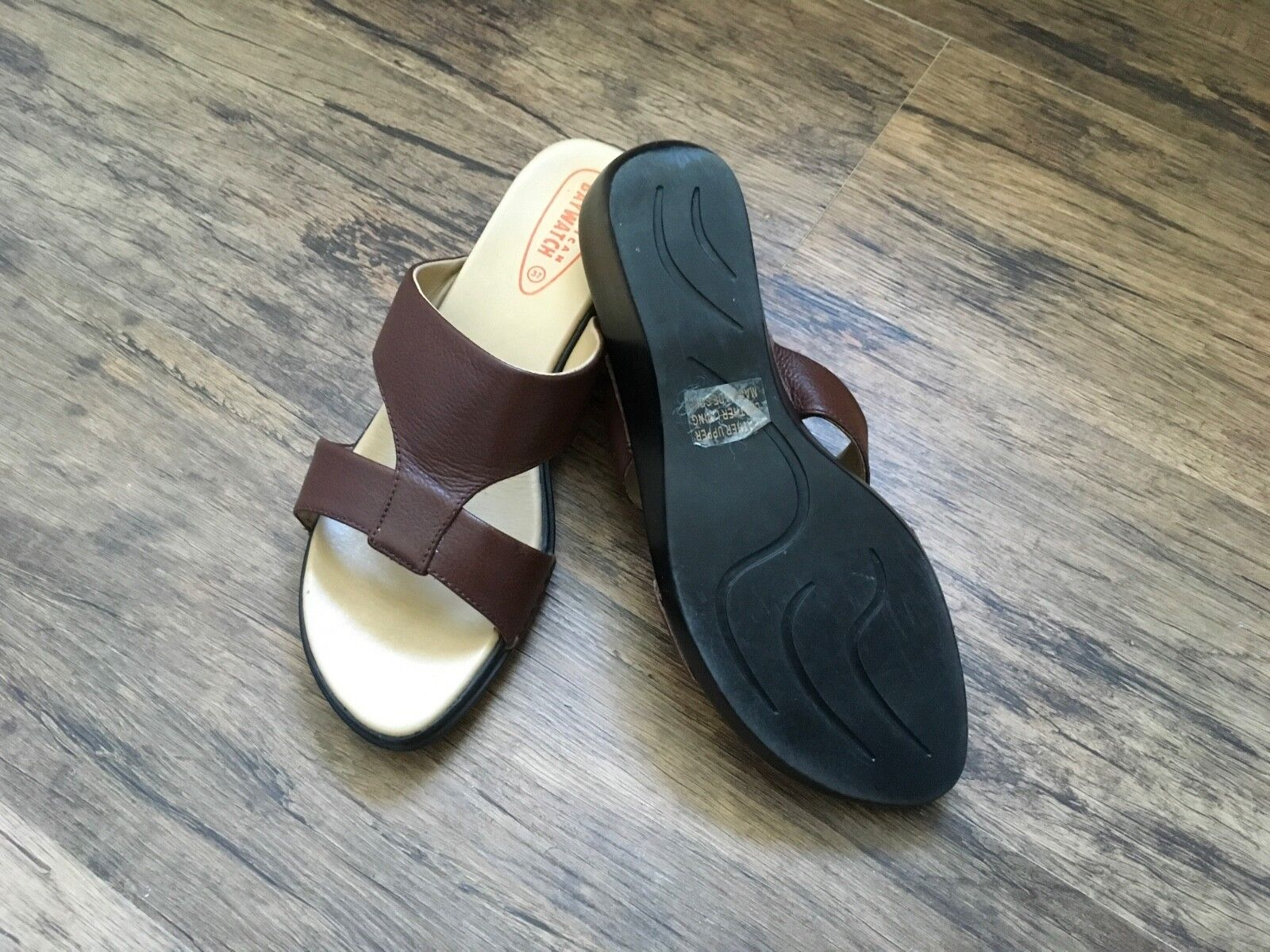 Men's/Women's Ladies tan sandals (size 4) High quality and 2018 cheap New products in 2018 and Exquisite processing 2ce2c8