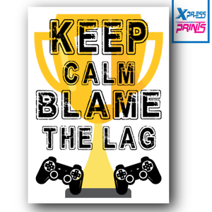 Gaming Boys Bedroom Prints Games Wall Art Gamer Gifts Gaming Poster A3 A4 #01
