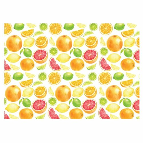 -GP206 297x420mm Unique High Quality Mixed Fruits Colourful Gift Wrap Size: