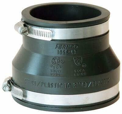 3 Pack Fernco P1056-150 1-1//2-Inch Stock Coupling