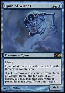 1x Djinn of Wishes M10 MtG Magic Blue Rare 1 x1 Card Cards