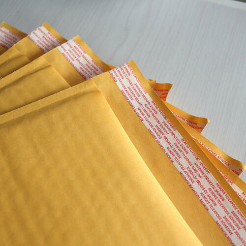 250*300+40mm Kraft paper Bubble Bag Padded Envelopes Mailers Yellow Bag@!