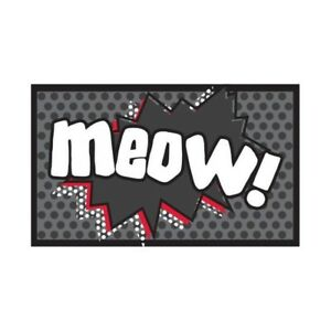Meow Cartoon Cat Food Mat - Pet Rebellion Dinner Mate 40 x 3853000146400