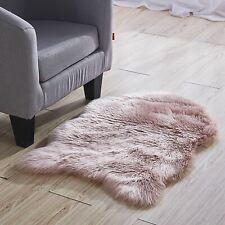 Jvl Alaska Faux Shaggy Plush Sheepskin