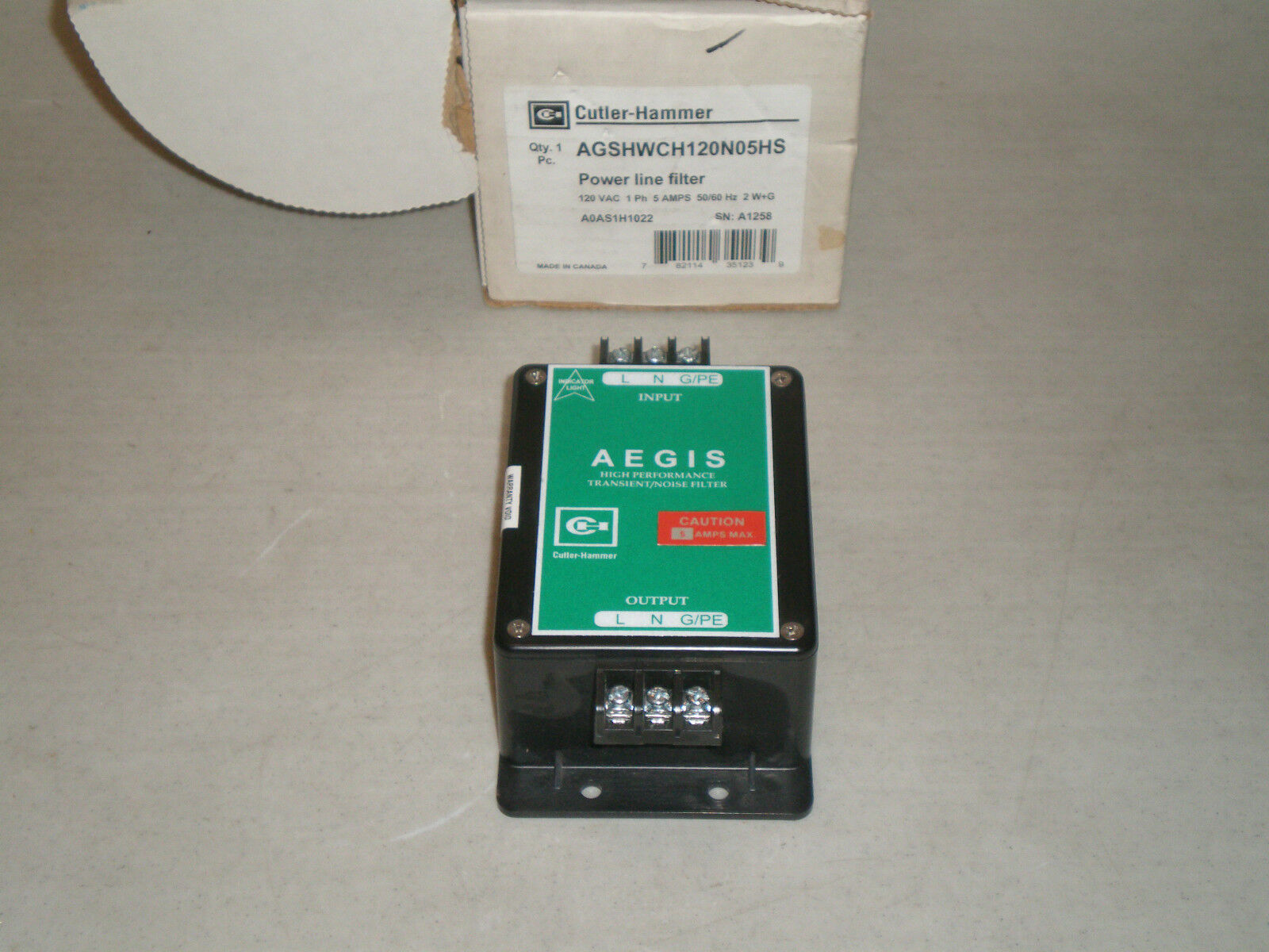 ¡ nuevo Aegis Cutler-hammer Aegis nuevo transient/noise filtro supresor de sobretensiones agshwch120n05hs f905ed