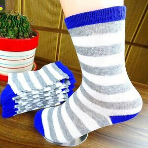 1Pairs-Mens-Socks-Lot-Classic-Cotton-Stripes-Casual-Dress-Socks-18-16cm-CH120