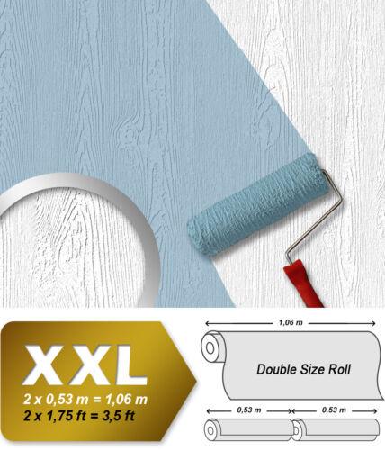 EDEM 83005BR60 Struktur-Tapete überstreichbar Holzoptik matt weiß 26,50 m2