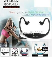 Sporty Look MP3 Player Headset/Headphone/Earphone/Neckban with Memory Card Slot