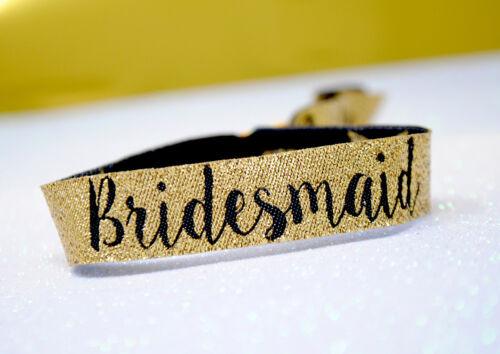 Bride Tribe Accessories Hen Party Wristbands Team Bride Gold Bridesmaid