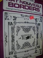 Dover Clip Art Art Nouveau Borders Book Copyright Free Designs