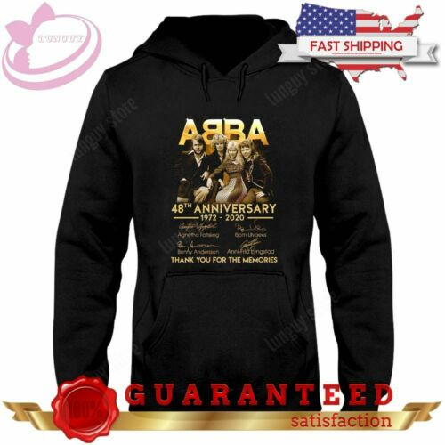 ABBA 48th Anniversary Of Abba Musical Genre Mamma Black Hoodie Shirt Plus Size
