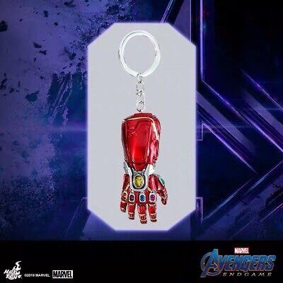Hot Toys Avengers 4 Endgame Thanos Gloves Infinity Gauntlet Red Key Chain New