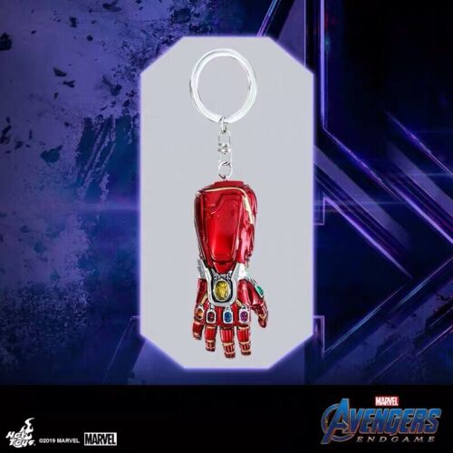 Authentic Hot Toys Avengers End game Iron man/'s Nano GAUNTLET key chain keyring