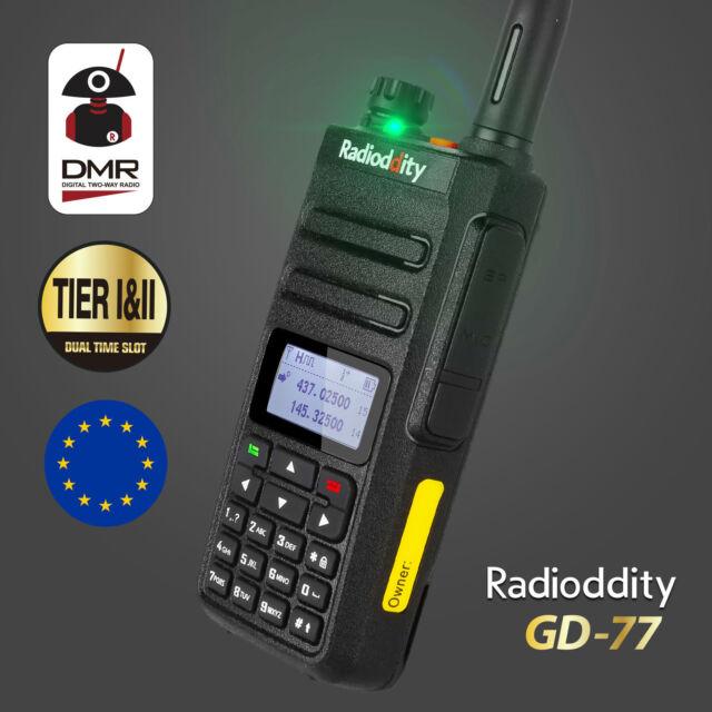 Radioddity GD-77 Dual Band VHF/UHF DMR TIER II 1024CH DIGITAL TALKIE WALKIE EU