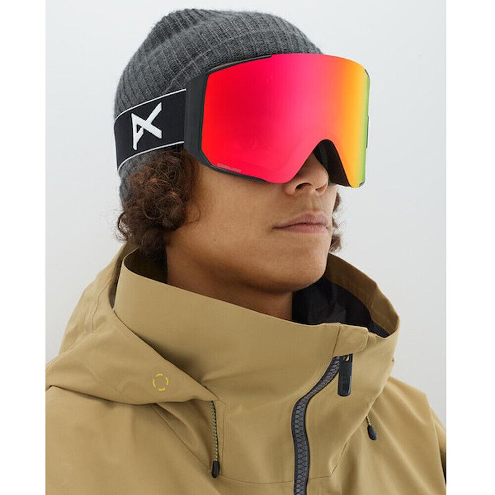Anon Sync M Fusion Ski  und Snowboardbrille Herren schwarz rot