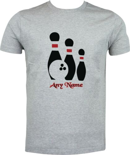 PERSONALISED BOWLING PINS GIFT BIRTHDAY CHRISTMAS FULL COLOR SUBLIMATION T SHIRT