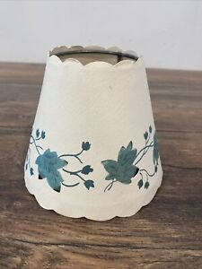 """Country """"Bulb Clip"""" Stencil  HOME LAMP SHADE Cottage Decor Paper Shade 4.5"""""""