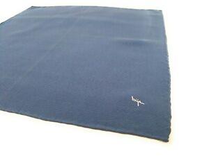 BIJAN-Silk-Pocket-Square-Blue-Chevron-Herringbone-Hand-Rolled-Handkerchief