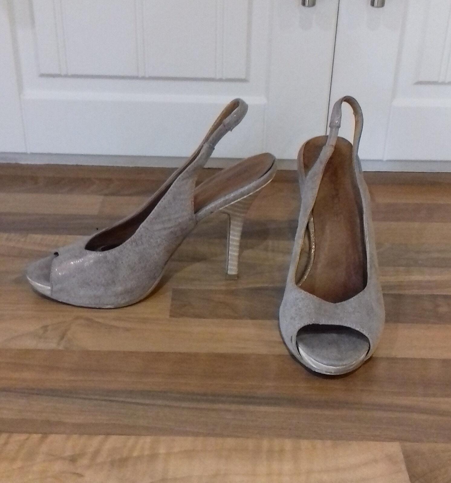 sze 3 (36 expensive beige gold shimmer designer platform peeptoe stiletto sandal