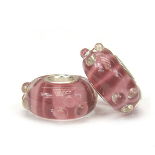 European Murano vidrio bead 925 plata apto para marcas de tendencia-p00217
