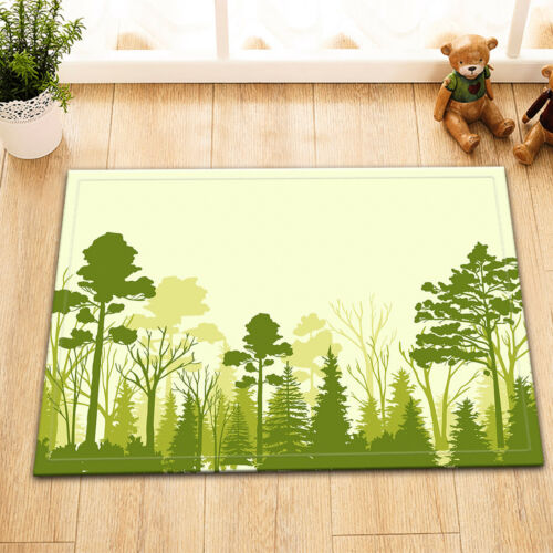 "72X72/"" Hand Drawn of Forest Tree Shower Curtain Waterproof Fabric Bath Curtains"