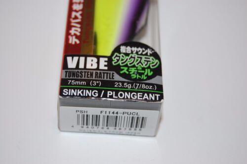 "YO ZURI DUEL HARDCORE XX Tungstène Hochet Bass Vibe 3/"" 7//8oz Chartreuse Violet"