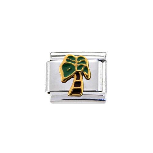 Italian Charm Palm tree a fits 9mm classic Italian charm bracelets