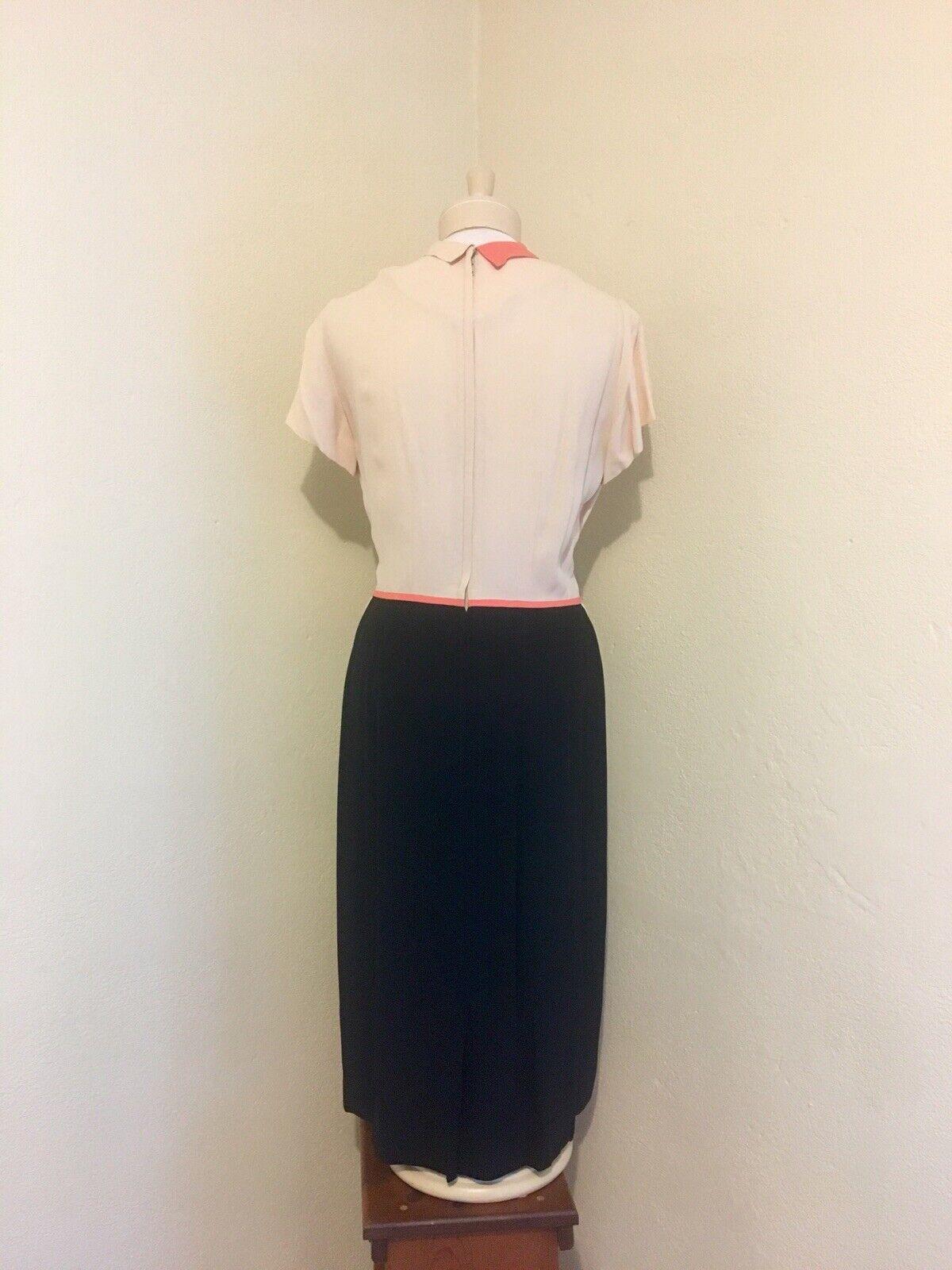 1940's RARE Vintage Lt Pink, Coral, Black Color B… - image 5