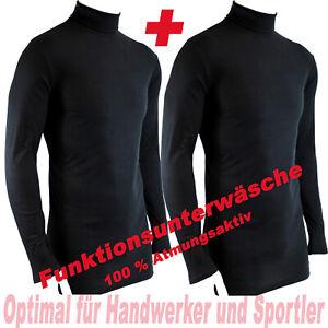 2-STUCK-FUNKTIONSSHIRT-Shirt-HERREN-Gr-S-Rollkragen-Unterhemd-Thermo-ue5ue704