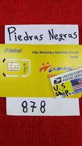 Telcel MEXICO  Piedras Negras   Prepaid SIM Card for UNLIMITED CALLS,SMS