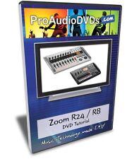 Zoom R24 / R8 DVD Video Tutorial Manual Help