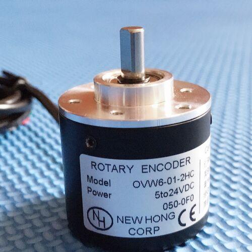 1 pc New 100P Incremental Rotary Encoder 100p//r 6mm Shaft 5-24vdc
