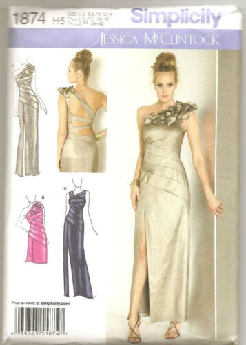 Simp 1874 Misses' Special Occasion Dress in Two Lengths Pattern Sz 6-14 or 14-22