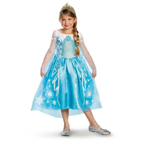 Disney Princess Frozen Elsa Costume Dress Girls Size XS 3T-4T Play Dress Up NWT