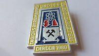 DDR Abzeichen - Tag des Bergmanns und des Energiearbeiters der DDR 1980
