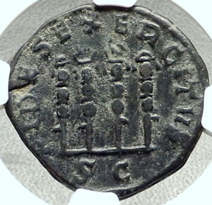 PHILIP-I-the-Arab-Ancient-244AD-Rome-Sestertius-Coin-Legion-STANDARDS-NGC-i68406