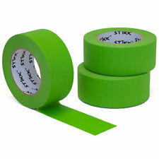 3pk 2 48mm X 60yd Stikk Green Painters Masking Tape 14 Day Easy Removal