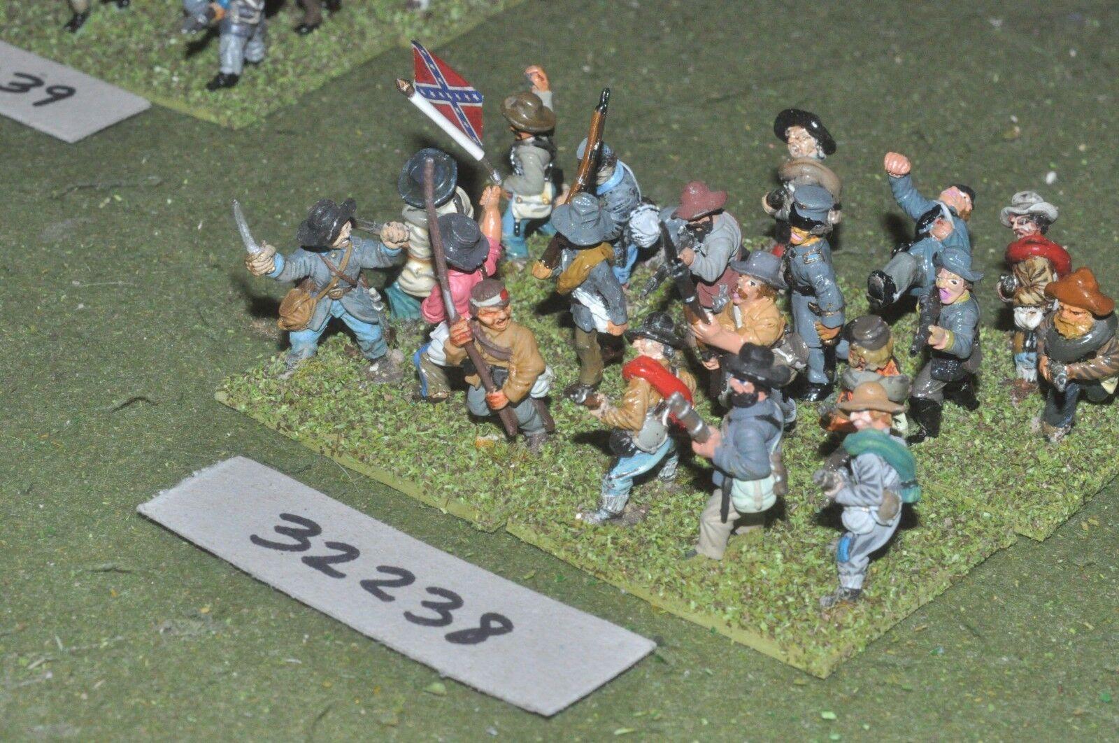 25mm ACW   confederate - regt. 20 figures - inf (32238)