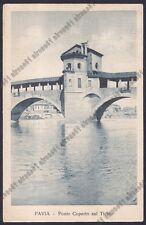 PAVIA CITTÀ 91 PONTE sul Fiume TICINO Cartolina viaggiata 1923