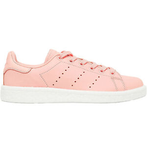 adidas-Originals-Mens-Stan-Smith-Boost-Low-Rise-Lace-Up-Trainers-Sneakers-Coral