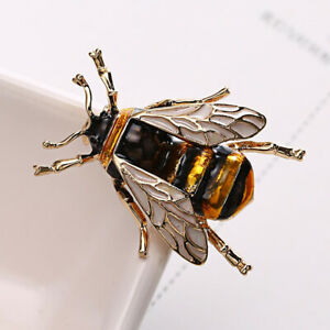Bumble-Bee-Brooch-Gold-Yellow-Honey-Insect-Enamel-Lapel-Pin-Badge