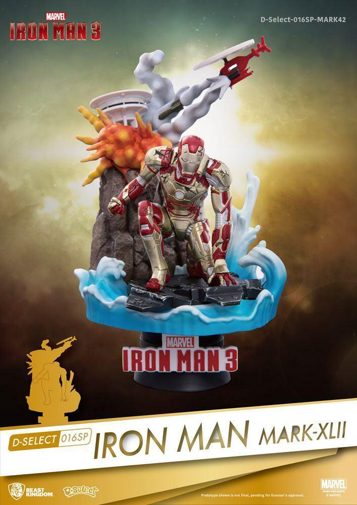 Iron Man 3 D-Select PVC PVC PVC Diorama Iron Man Mark XLII 15 cm - Beast Kingdom Toys 087bc3