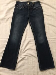 4c9676fb Silver Jeans Suki Surplus Women's Size 27 X 29 Boot Cut Thick Stitch ...
