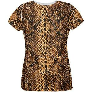 All Snake Over Halloween Snakeskin Shirt Womens T Costume Desert Brown SqvvEXZcw